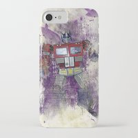 optimus prime iPhone & iPod Cases featuring G1 - Optimus Prime by DesignLawrence