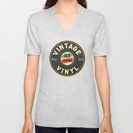 Vintage Buy and Sell Old Vinyl Records Sign T Shirt Unisex V-Neck