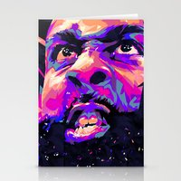 nba Stationery Cards featuring JAMES HARDEN: NBA ILLUSTRATION V2 by mergedvisible