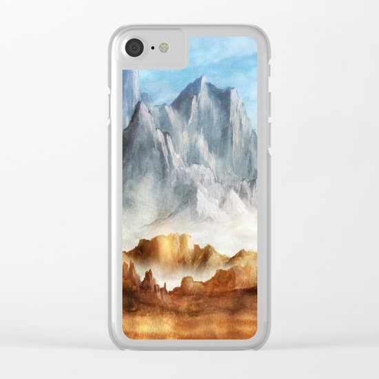 Over The Mountains Clear iPhone Case