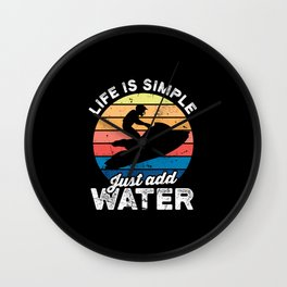 Jetski Jetboot Water Sports Surfing Wall Clock