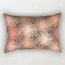 Anemone Pattern in Blush and Cocoa Rectangular Pillow