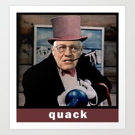 Dick Cheney Penguin Art Print