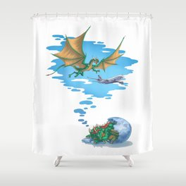 If Dogs Chase Cars... Shower Curtain