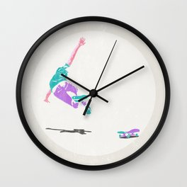 skateboarding 2 (lost time, risograph) Wall Clock