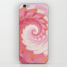 Strawberry Pink & Tangerine Orange Spiral iPhone & iPod Skin