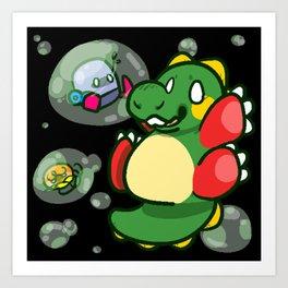 """Bubble Bobble """"Bub"""" ! Art Print"""