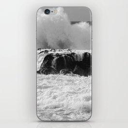 """Ocean Waves """"TABLE TOPS"""" B&W iPhone Skin"""