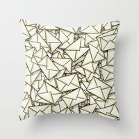 geek Throw Pillows featuring Email by 10813 Apparel