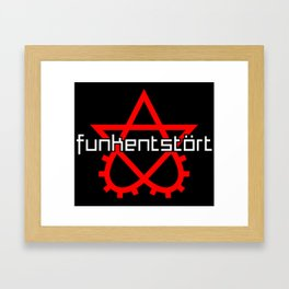 Funkentstort Scrotogram Framed Art Print