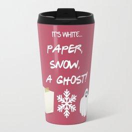 Paper, Snow, A Ghost! - Friends TV Show Travel Mug