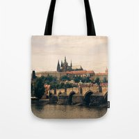 prague Tote Bags featuring Prague by maisie ong
