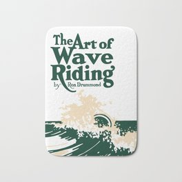 The Art of Wave Riding 1931, First Surfing Book Artwork, for Wall Art, Prints, Posters, Tshirts, Men, Women, Kids Bath Mat