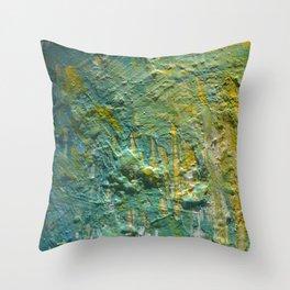 Water Scrape Throw Pillow