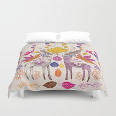 Fall in Love with Fawns Duvet Cover