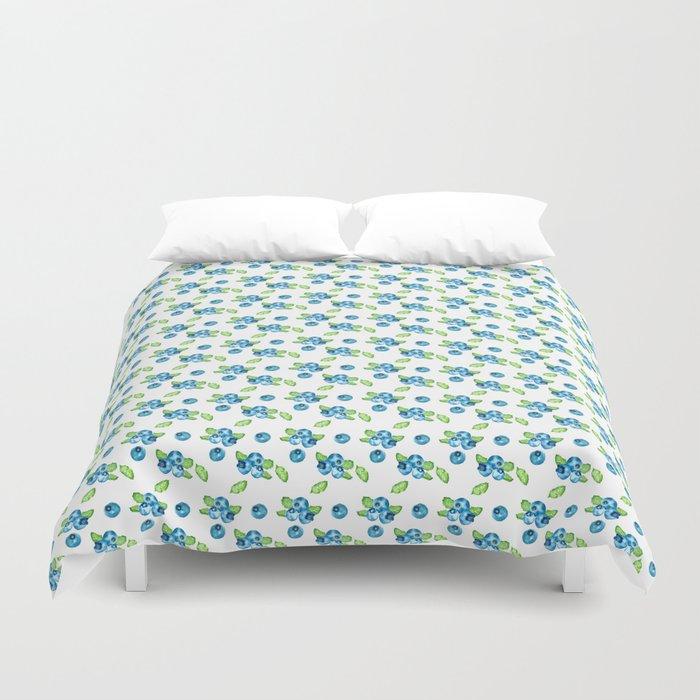 Blueberry Watercolour Pattern Duvet Cover