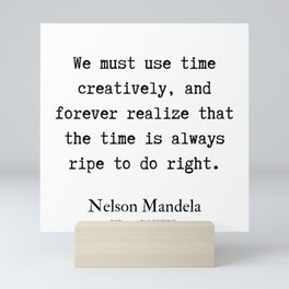 48   | Nelson Mandela  Quotes | 190818 Mini Art Print