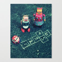 Robot Hopscotch Canvas Print