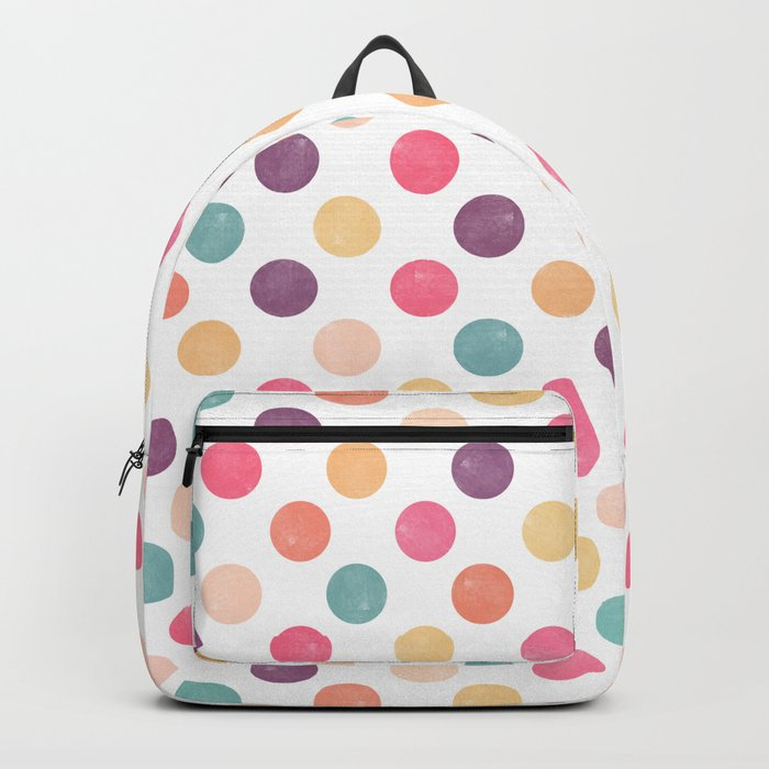 Watercolor Dots Pattern Backpack