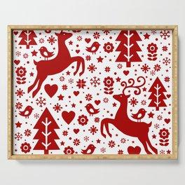 Scandinavian Christmas pattern Serving Tray