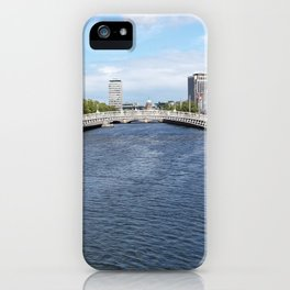 Crossing the River Liffey iPhone Case