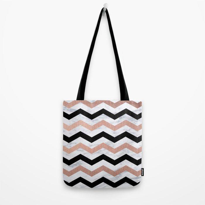 Luxury Trendy Chevron Tote Bag