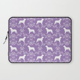 English Springer Spaniel dog breed floral pet portraits dog silhouette dog pattern Laptop Sleeve