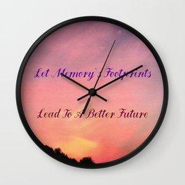 Memory's Footprints Wall Clock