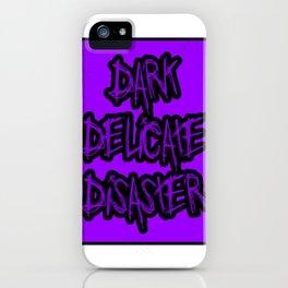 Dark Delicate Disaster Purple Typography iPhone Case