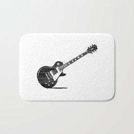 Black Guitar Bath Mat