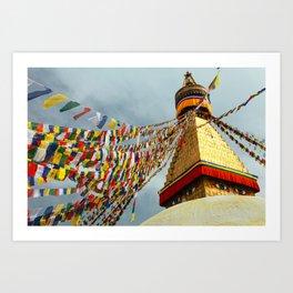 Boudhanath stupa in Nepal Art Print