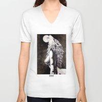 okami V-neck T-shirts featuring Okami by Rōō Hattori