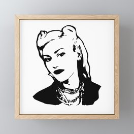 Portrait of an superstar American singer, songwriter, and actress Framed Mini Art Print