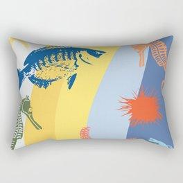 vintage beach theme Rectangular Pillow