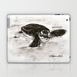Baby Turtle Hatchling (Charcoal) Laptop & iPad Skin