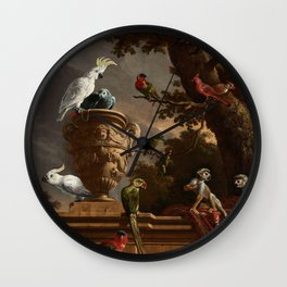 The Menagerie, Melchior d'Hondecoeter, c. 1690 Wall Clock
