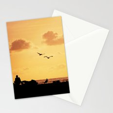 Fisherman at sunset Stationery Cards