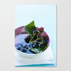 Bowl of Blackberries Canvas Print