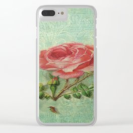 Paris Rose Clear iPhone Case