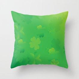 Glowing Shamrocks Throw Pillow