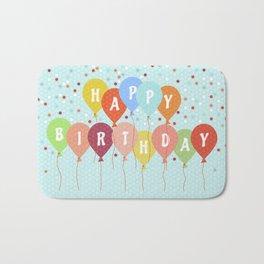 Colorful Birthday card Bath Mat
