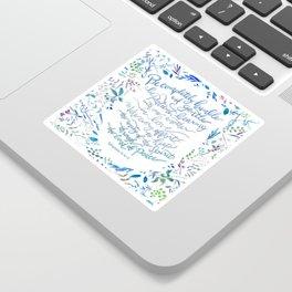 Be Humble & Gentle - Ephesians 4:2-3 Sticker