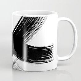 Black Abstract Brush Strokes nr 3 Coffee Mug