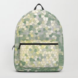 Yellow and Sage Green Mosaic Pattern Backpack