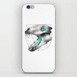 Blue Flame Wolf Skull iPhone Skin