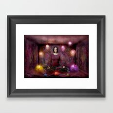 Woman in Meditation Framed Art Print