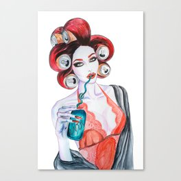Red Head Beauty Canvas Print