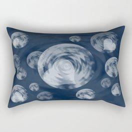 RAINING MIDNIGHT HEARTS  Rectangular Pillow