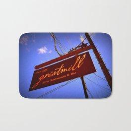 Gristmill Sign Bath Mat