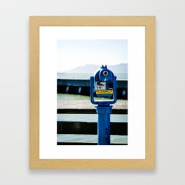 a view from San Francisco Bay Framed Art Print